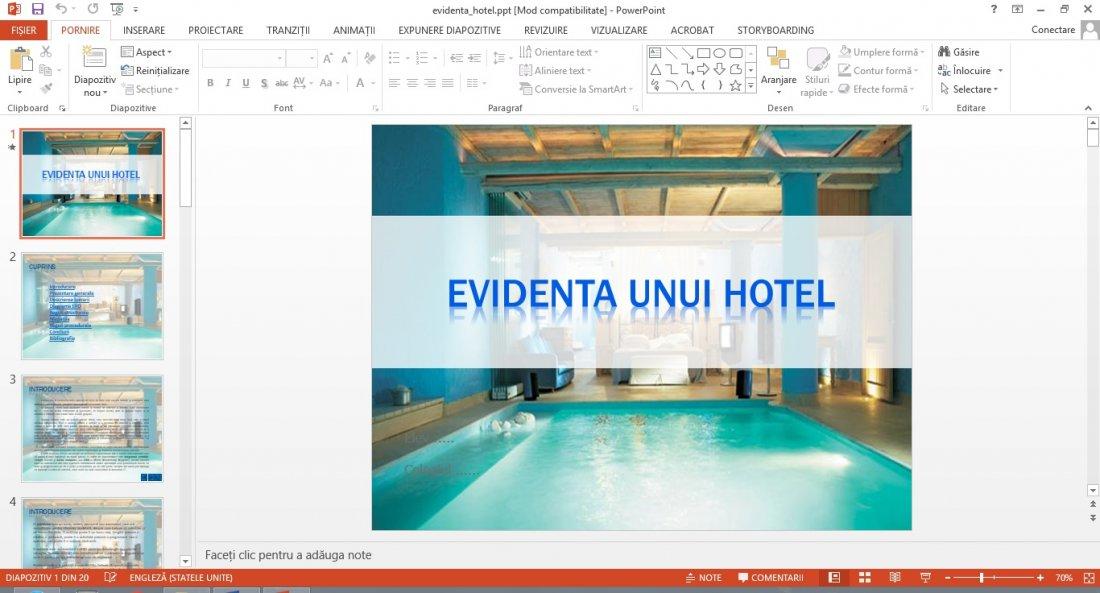 Atestat informatica Evidenta unui hotel