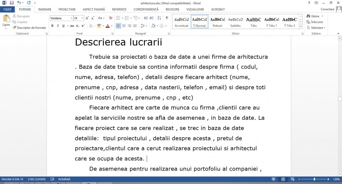 Atestat informatica Firma de arhitectura