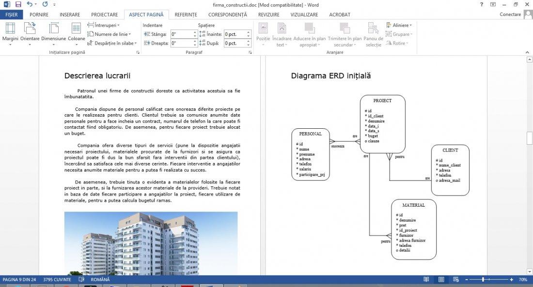 Atestat informatica Firma de constructii
