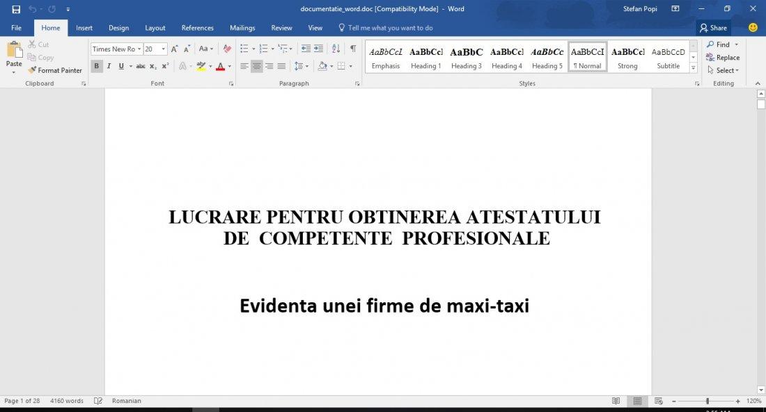 Atestat informatica Firma de Maxi-Taxi