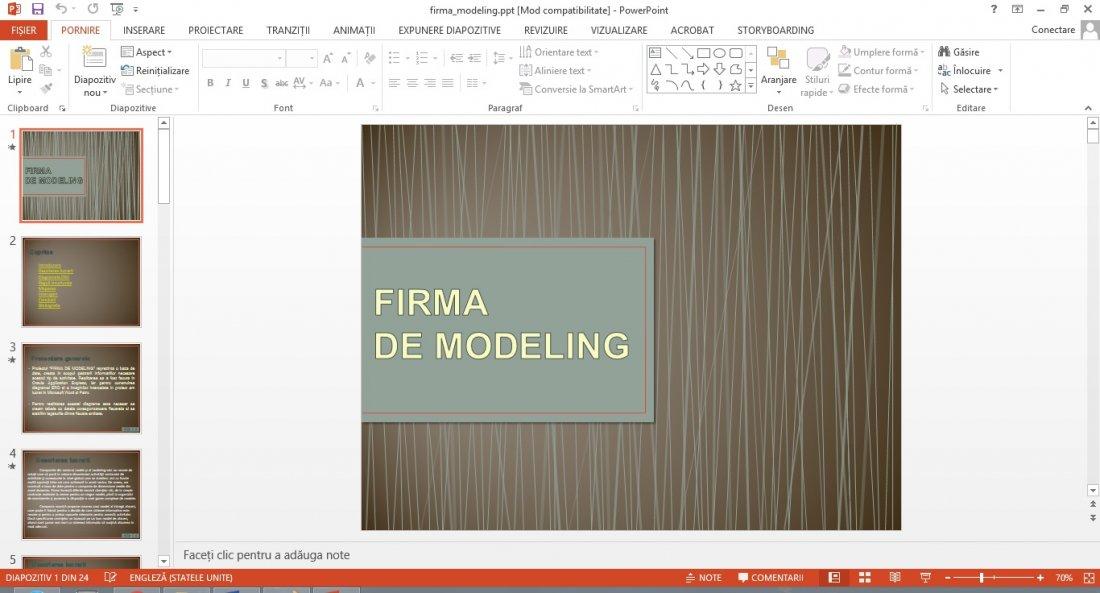 Atestat informatica Firma de modeling