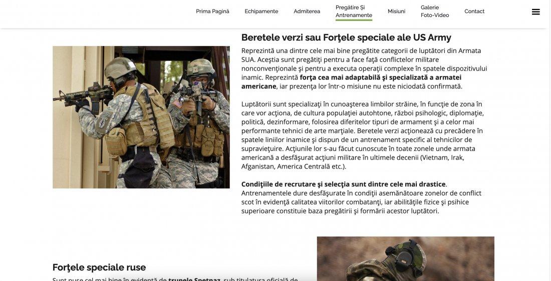 Atestat informatica Fortele pentru Operatii Speciale (FOS)
