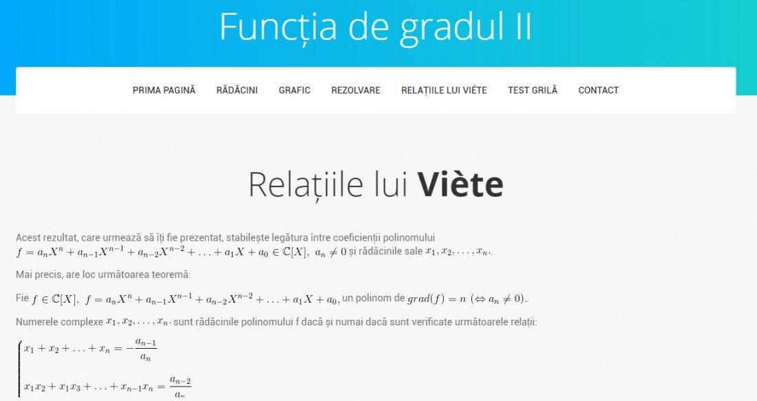 Atestat informatica Functia de gradul II