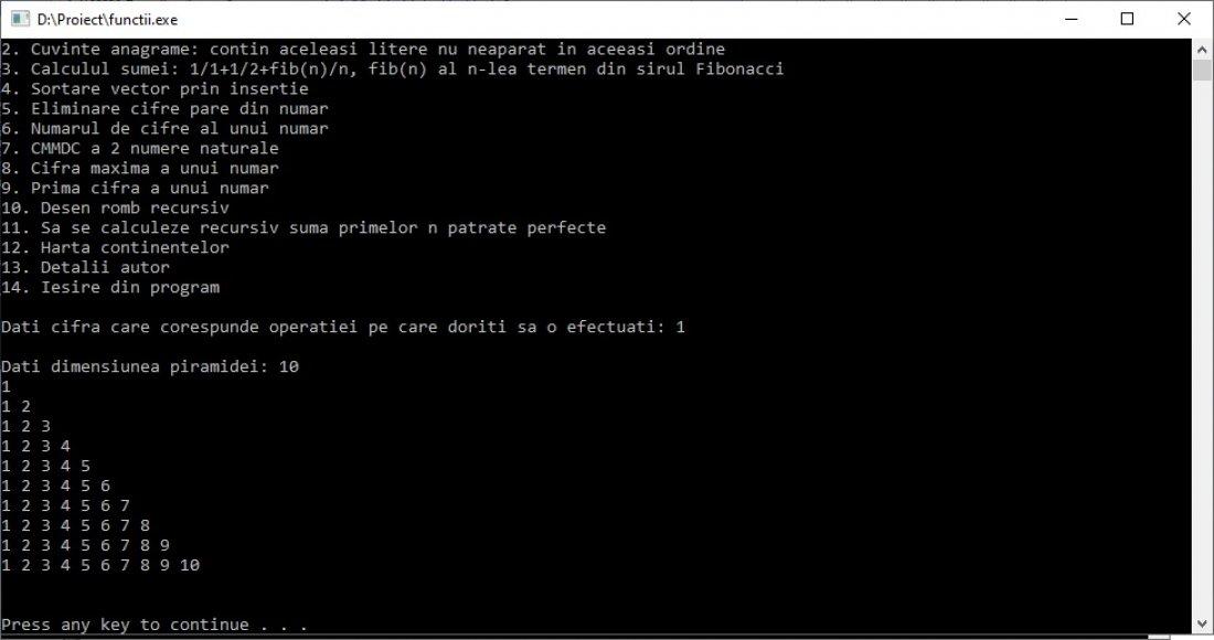Atestat informatica Functii recursive