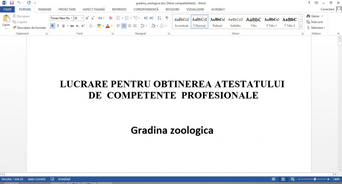 Atestat informatica Gradina zoologica