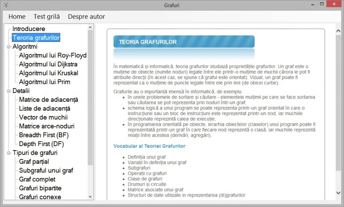 Atestat informatica Grafuri in CSharp