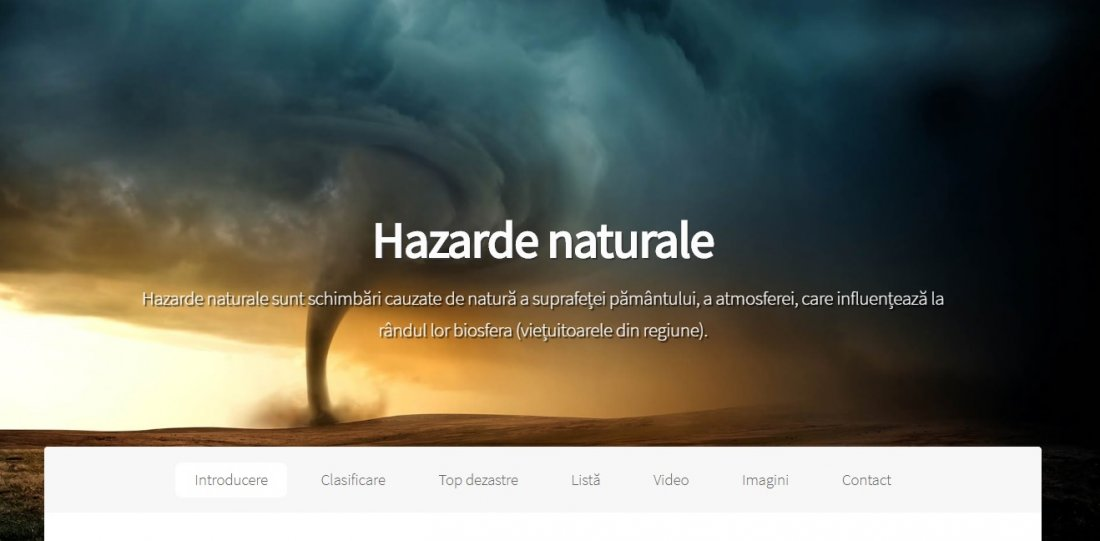 Atestat informatica Hazarde Naturale