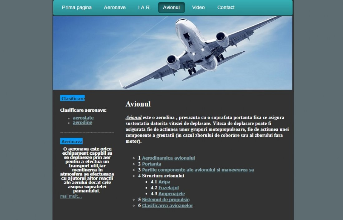 Atestat informatica Industria aeronautica