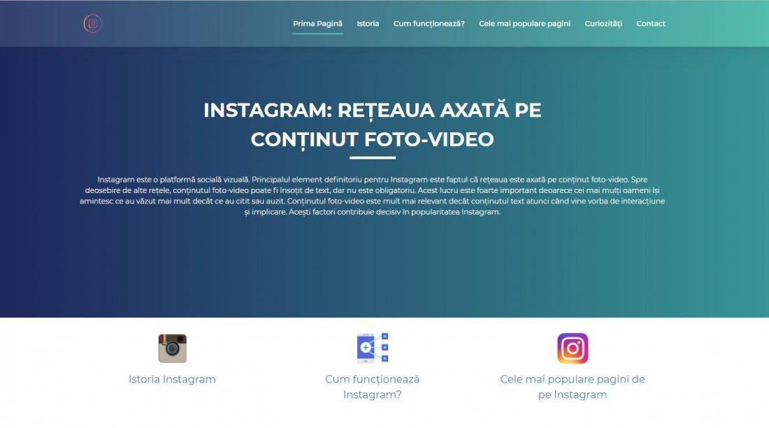 Atestat informatica Instagram