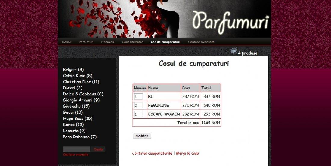 Atestat informatica Magazin online de parfumuri