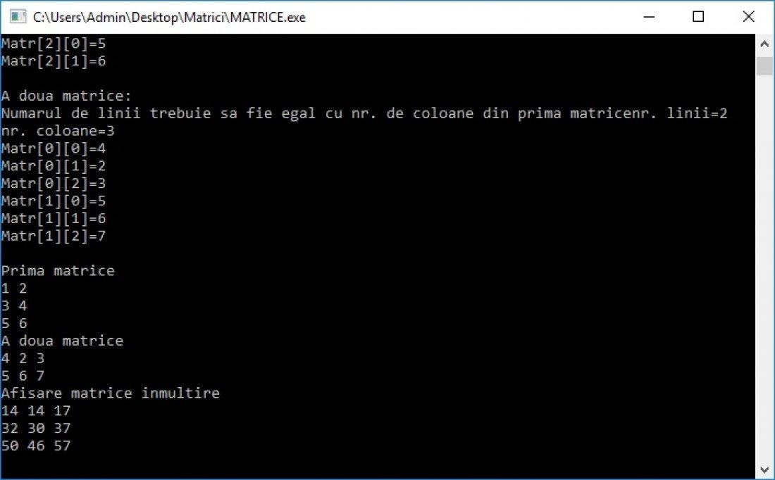 Atestat informatica Matrice