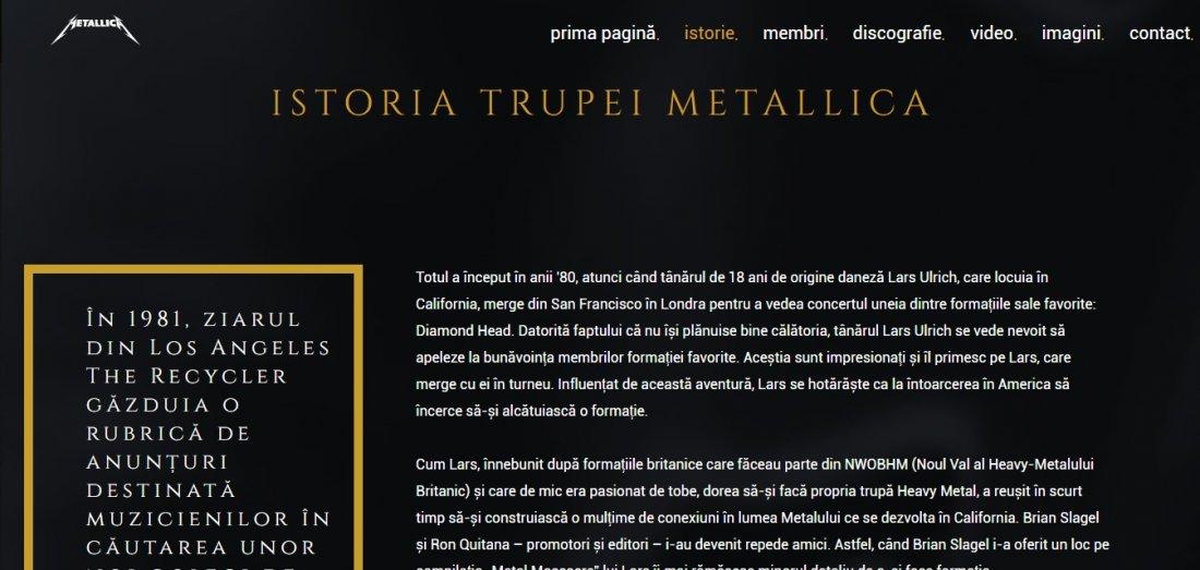 Atestat informatica Metallica