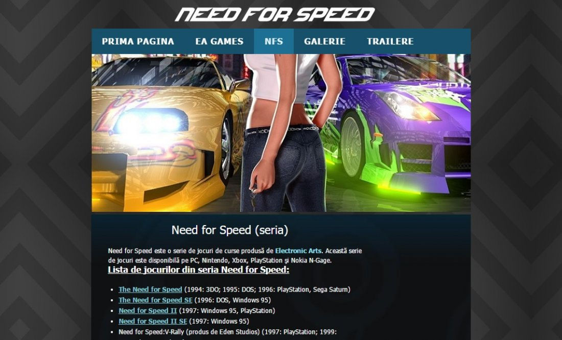 Atestat informatica Need for Speed