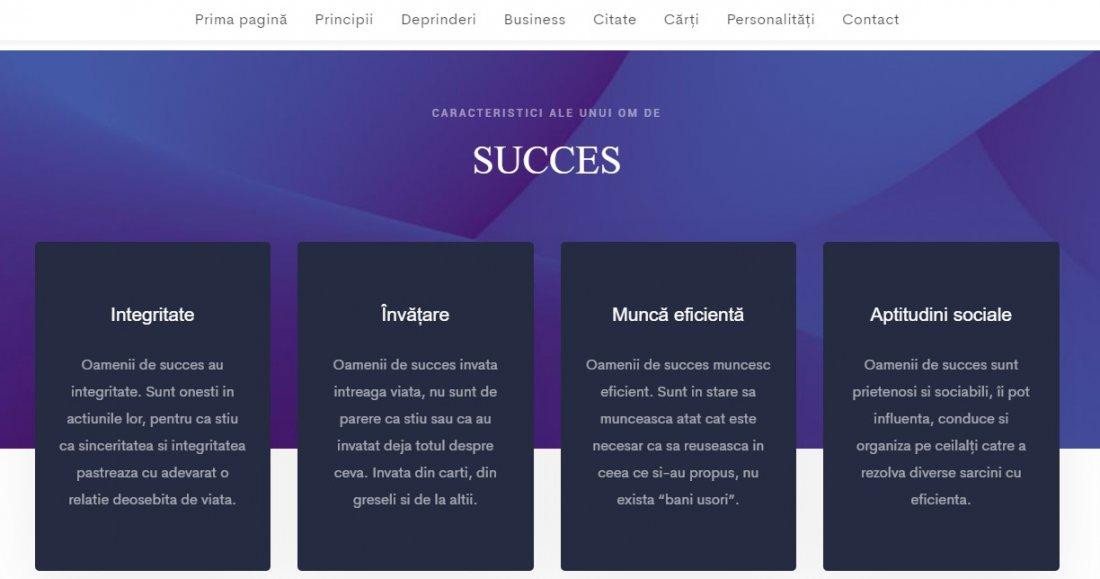 Atestat informatica Principiile omului de succes