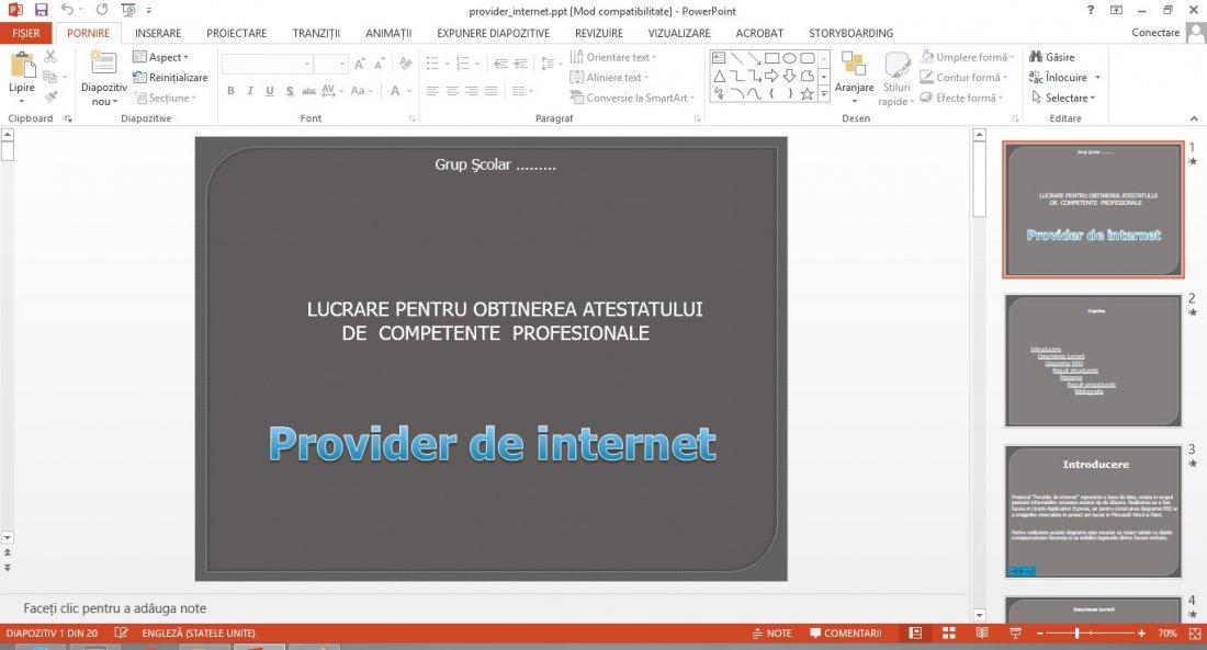 Atestat informatica Provider de internet