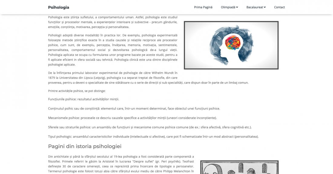 Atestat informatica Psihologia ca materie de examene