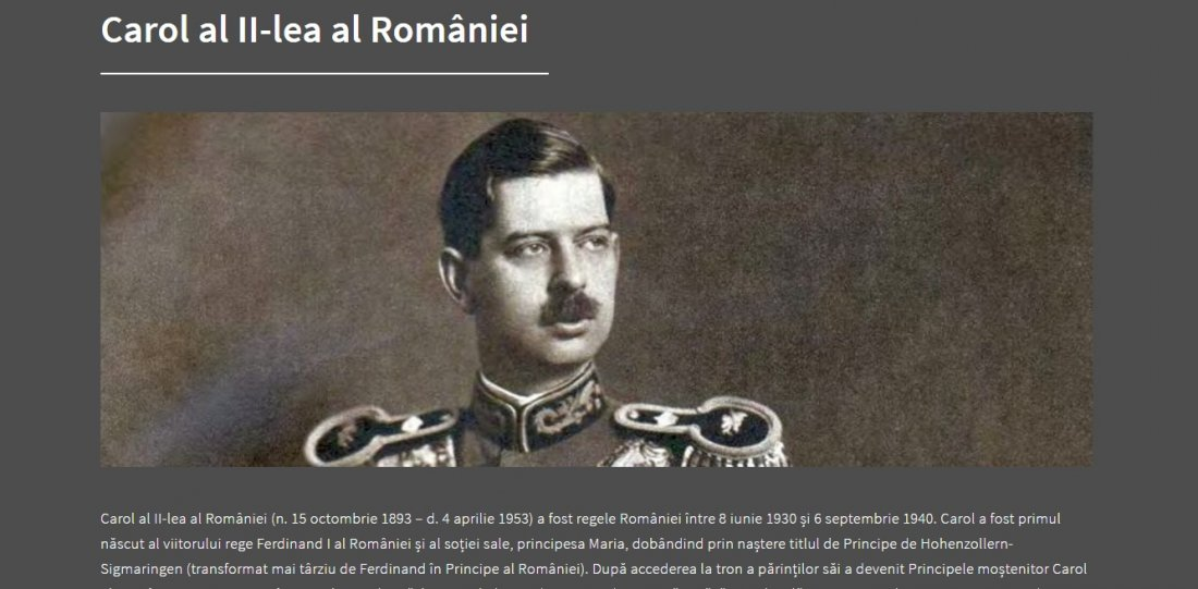 Atestat informatica Regii Romaniei