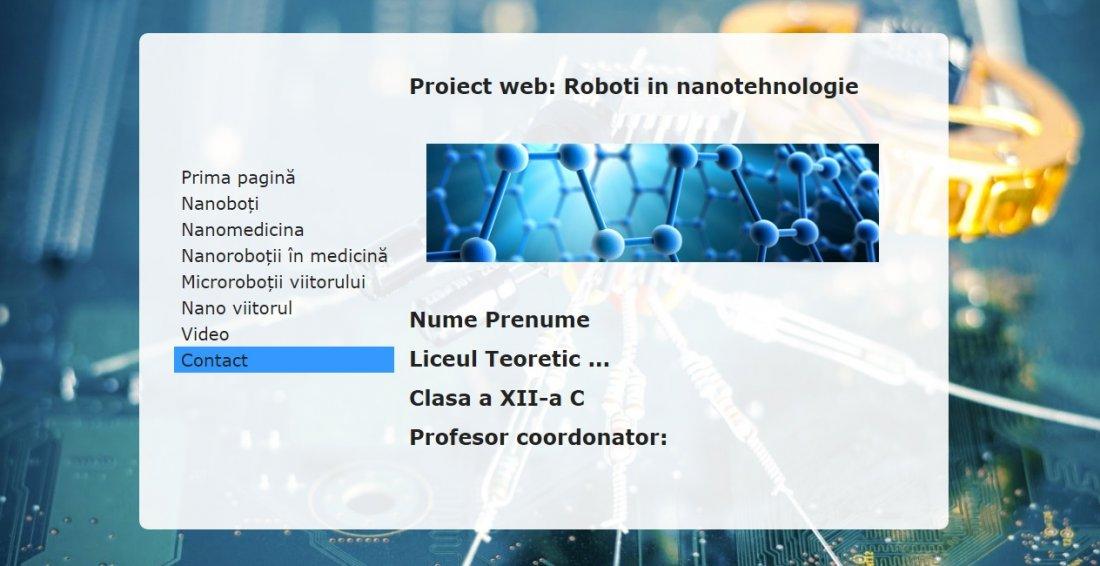 Atestat informatica Roboti in nanotehnologie