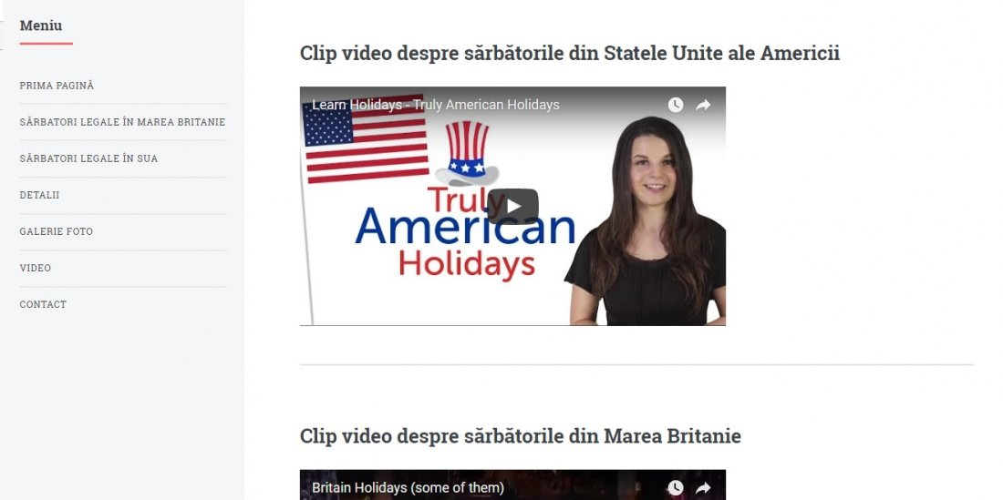 Atestat informatica Sarbatori in Marea Britanie si Statele Unite ale Americii