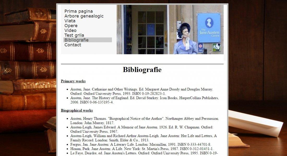 Atestat informatica Scriitoarea Jane Austen