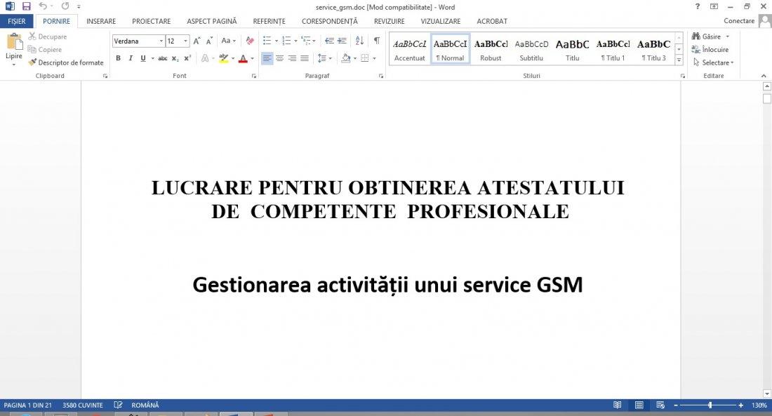 Atestat informatica Service GSM
