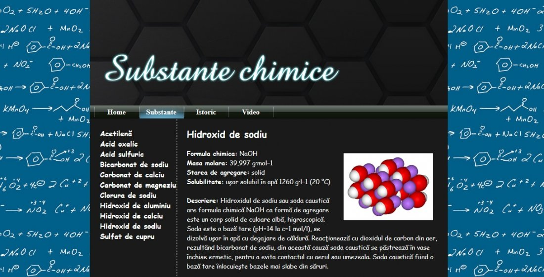 Atestat informatica Substante chimice