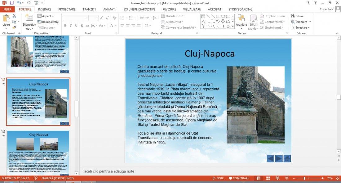 Atestat informatica Turismul in Transilvania