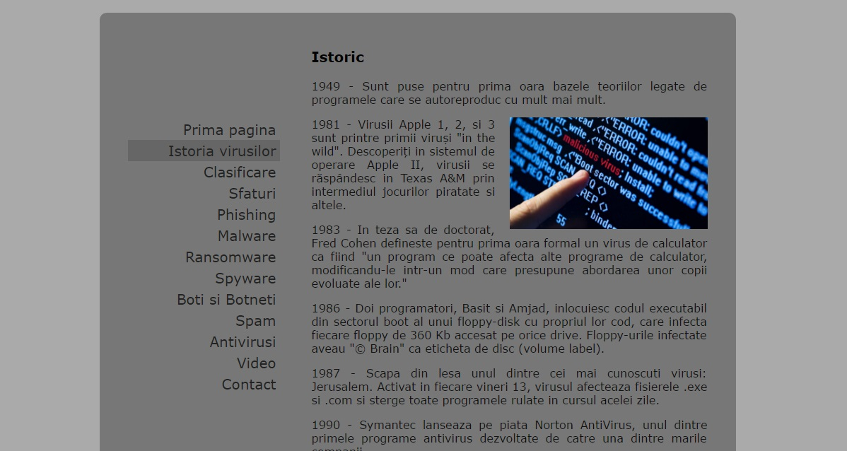 Atestat informatica Virusii informatici