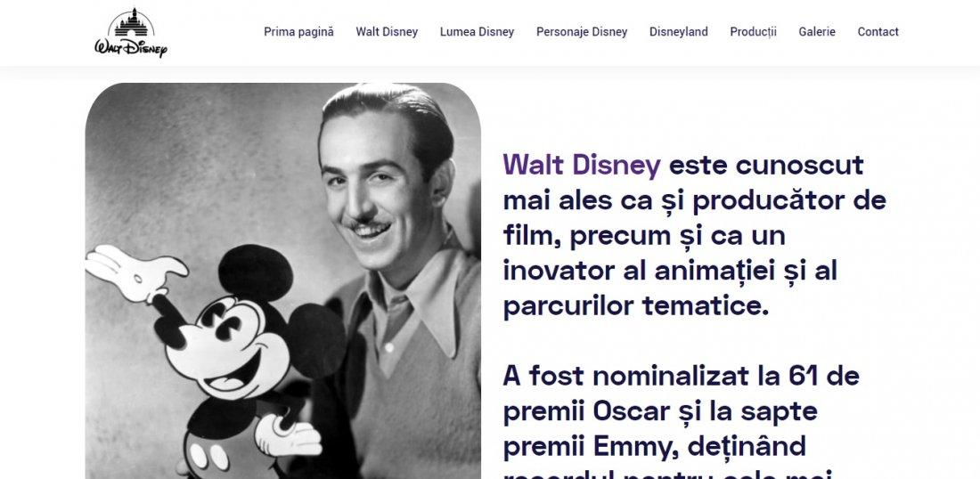 Atestat informatica Walt Disney