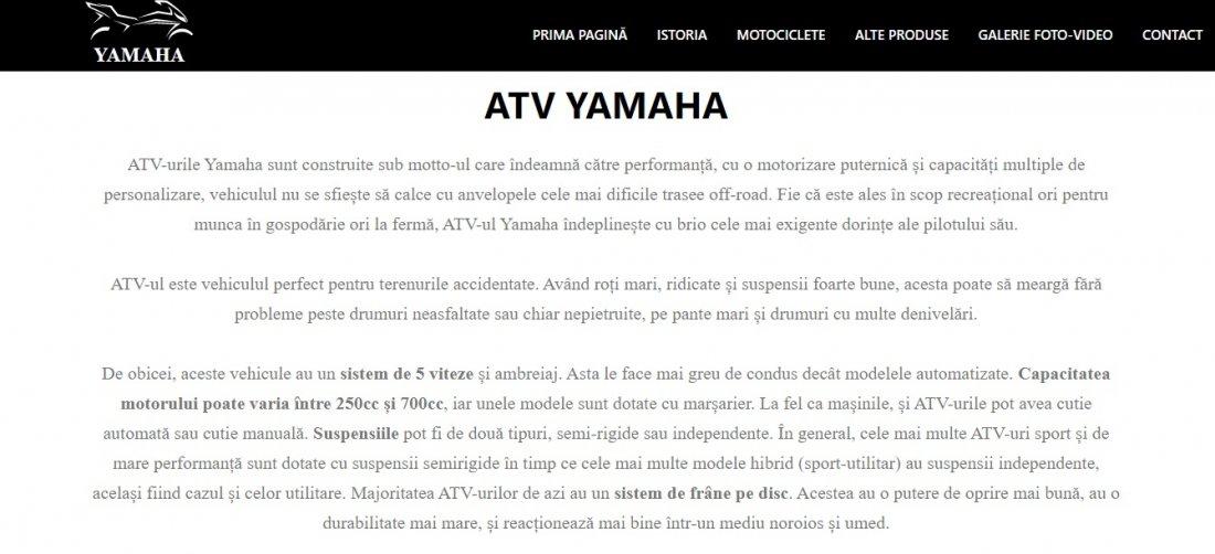 Atestat informatica Yamaha